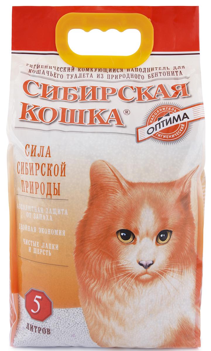 Сибирская кошка СИБИРСКАЯ КОШКА наполн.  5л ОПТИМА (комкующийся) (уп4) Kormberi.ru магазин товаров для ваших животных