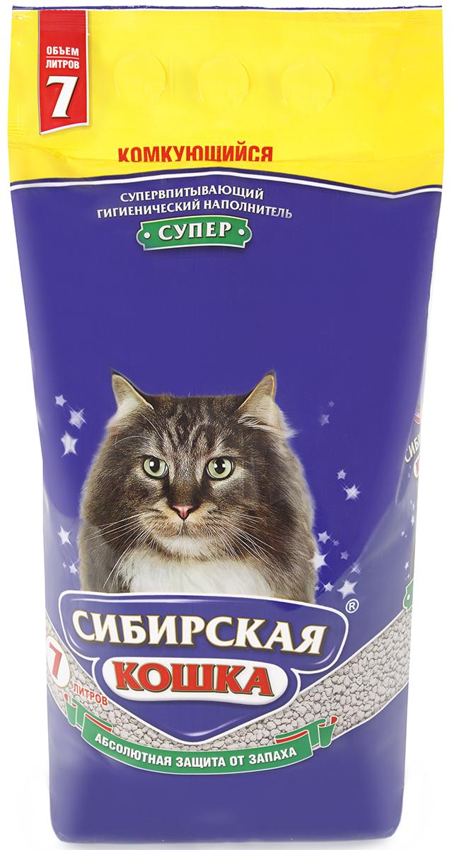 Сибирская кошка СИБИРСКАЯ КОШКА наполн.  7л СУПЕР (комкующийся) Kormberi.ru магазин товаров для ваших животных