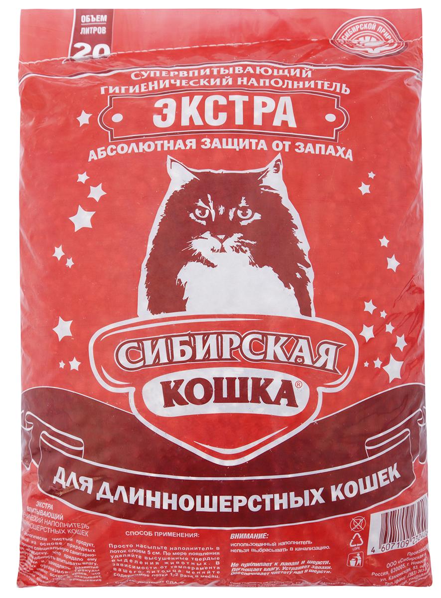 Сибирская кошка СИБИРСКАЯ КОШКА наполн. 20л ЭКСТРА д/длиннош (впитывающий) Kormberi.ru магазин товаров для ваших животных