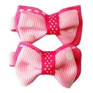 Заколка НВ1104 розовая в белый горох 1*2 Kormberi.ru магазин товаров для ваших животных