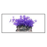 Уют коралл аквариумный 10 см,силикон Актиния Карибская колония фиолетовая ВК707 (Р) Kormberi.ru магазин товаров для ваших животных