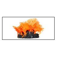 Уют коралл аквариумный 10 см,силикон Актни солнечные оранжевые ВК717 (Р) Kormberi.ru магазин товаров для ваших животных
