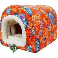 №1 №1 Лежанка Фэшн 8103341/2 лежак домик оранж.мех внутри 42*34*34см Kormberi.ru магазин товаров для ваших животных