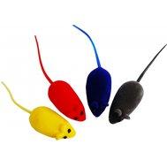 Мышь виниловая с пищалкой цв 6см ИУ72 (уп30) Kormberi.ru магазин товаров для ваших животных