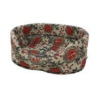 74032 Лежанка лён+мебельная ткань №2 43*30*16 см Kormberi.ru магазин товаров для ваших животных
