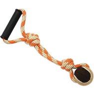№1 Грейфер веревка с мячом и с ручкой 38см ГР1021 Kormberi.ru магазин товаров для ваших животных