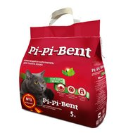 """Pi Pi Bent Наполнитель """"Pi-Pi-Bent"""" Сенсация свежести (5кг) д/к комкующийся 12 л пакет (уп4) Kormberi.ru магазин товаров для ваших животных"""