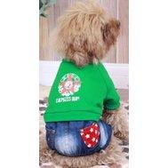 Dobaz Комбинезон джинсовый низ, верх зелен. майка с длин. рукавом, звезда, XL ДЛ1212ВХЛ Kormberi.ru магазин товаров для ваших животных