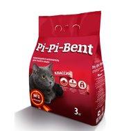 """Pi Pi Bent Наполнитель """"Pi Pi Bent"""" Классик (3кг) д/к комкующийся 7л пакет (уп6шт) Kormberi.ru магазин товаров для ваших животных"""