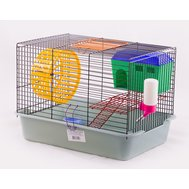 Вака Клетка ВАКА д/грызунов 2х ярусная с домиком и миской д.70 385*275*265 Kormberi.ru магазин товаров для ваших животных