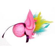 """DOGMAN Игрушка """"Шуршаший шар с перьями"""" (кош. мята) d 5 см., нат.норка, звенящая, шуршащая. Kormberi.ru магазин товаров для ваших животных"""