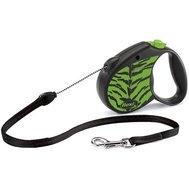 Flexi Флекси 5 м 20 кг Safari cord M зелёный Тигр (green Tiger) рулетка-Трос Kormberi.ru магазин товаров для ваших животных