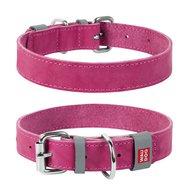 Collar Ошейник WAUDOG Classic, кожа, металлическая пряжка (ширина 25 мм, длина 38-49 см) розовый 02187 Kormberi.ru магазин товаров для ваших животных