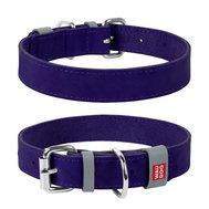 Collar Ошейник WAUDOG Classic, кожа, металлическая пряжка (ширина 15 мм, длина 27-36 см) фиолетовый 02079 Kormberi.ru магазин товаров для ваших животных