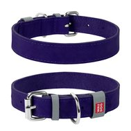 Collar Ошейник WAUDOG Classic, кожа, металлическая пряжка (ширина 25 мм, длина 38-49 см) фиолетовый 02189 Kormberi.ru магазин товаров для ваших животных