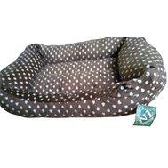 №1 №1 Лежанка Фэшн коричневая, объемная, флок 62*46*16 см Kormberi.ru магазин товаров для ваших животных
