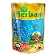 Herbax Herbax (100г) д/к в соусе Рыбное ассорти Мята (уп24) Kormberi.ru магазин товаров для ваших животных
